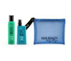 Balíček Framesi For-Me 218 Vyhlazující Sérum 150ml+103 Suchý šampon 150ml +Kosmetická taška