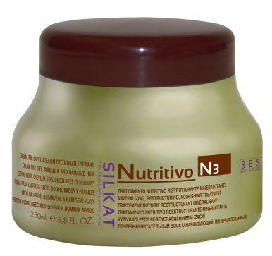 BES Silkat Nutritivo Creme 250ml - Maska na poškodený vlas
