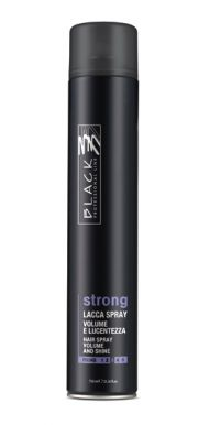 Black Lacca Strong Hair Spray 750ml - Lak na vlasy, silno tužiaci