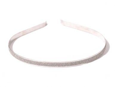 Čelenka kovová s leskom strieborná CE01250-017