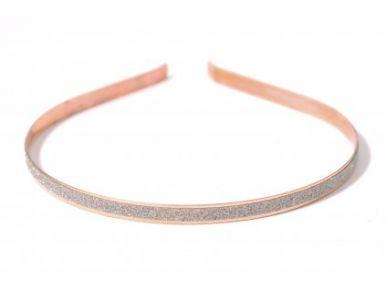 Čelenka kovová s leskom zlatá CE01250-017A