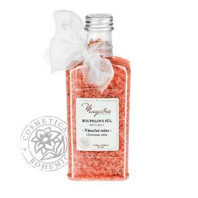 Cosmetica Bohemica - Kúpeľová soľ Vianočná so škoricou, vanilkou a pomarančom 320g