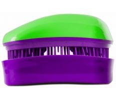 Dessata Mini Green - Purple - Profesionálna kefa na vlasy