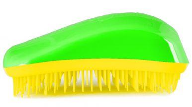 Dessata Original Green - Yellow - Profesionálna kefa na vlasy