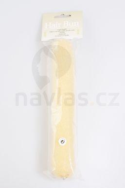 Duko vypchávka do vlasov podlhovastá, 23cm s cvokom 5102 svetlá