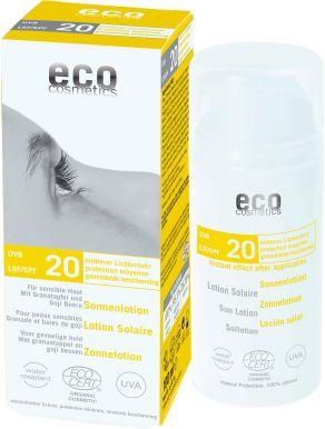 Eco Cosmetics Sun Cream Neutral SPF 20 100ml - Opalovací krém bez parfumácie