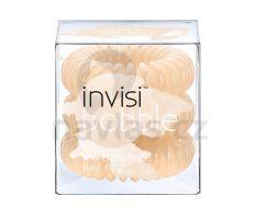InvisiBobble - Gumička do vlasů pastelově béžová 3ks
