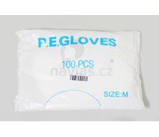 Jednorázové rukavice PE 100ks