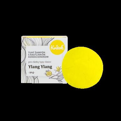 Kvítok Tuhý Šampón s Rastlinným Kondicionérom 50g - Ylang Ylang