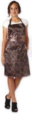 Olivia Garden Lace Apron Taupe - Kadeřnická zástěra hnědo zlatá