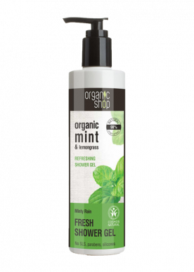 Organic Shop Active Shower Gel Mint & Lemongrass 280ml - Svieži sprchový gél