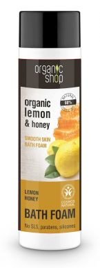 Organic Shop Bath Foam Lemon & Honey 500ml - Zvláčňujúca pena do kúpeľa
