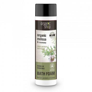 Organic Shop Bath Foam Melissa & Rosemary 500ml - Pena do kúpeľa pre pružnosť pokožky