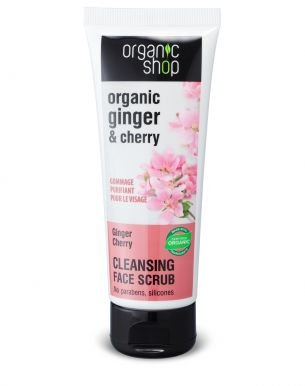Organic Shop Face Cleansing Face Scrub Ginger & Cherry 75ml - Čistiaci pleťový peeling
