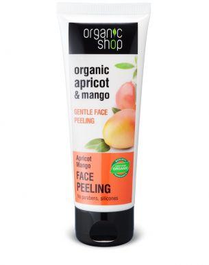 Organic Shop Face Peeling Apricot & Mango 75ml - Jemný pleťový peeling