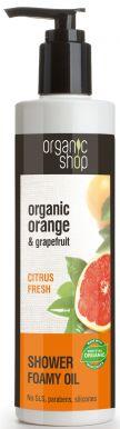 Organic Shop Shower Foamy Oil Orange & Grapefruit 280ml - Sprchový olej