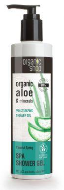 Organic Shop Spa Shower Gel Aloe & Minerals 280ml - Hydratačný sprchový gél