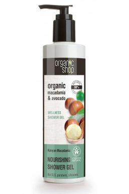 Organic Shop Wellness Shower Gel Macadamia & Avocado 280ml - Relaxačný sprchový gél