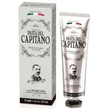 Pasta del Capitano Charcoal 75ml - Prémiová zubná pasta s aktívnym dreveným uhlím