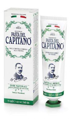Pasta del Capitano Natural Herbs 75ml - Prémiová zubná pasta s výťažkami bylín