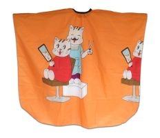 Pláštenka detská Mačky - oranžová