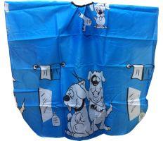 Pláštěnka dětská Psi - modrá