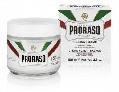 Proraso White Pre-Shaving Cream 100ml - Krém pred a po holení pre citlivú pokožku