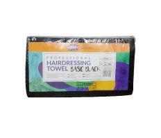 Ronney Hairdressing Towel Black 40x76cm 50ks - Kadernícke jednorázové uteráky čierne