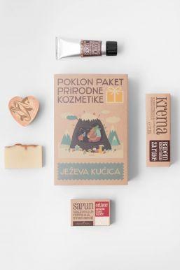 Sapunoteka Gift box for body Ježeva Kucica - Darčeková sada starostlivosť o telo Ježko domáci