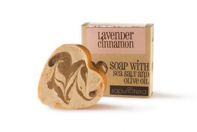 Sapunoteka Soap Sea Salt Lavender & Cinnamon 125g - Levanduľa a škorica s morskou soľou