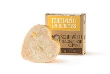 Sapunoteka Soap Sea Salt Mandarin & Lemongrass 125g - Mandarinka a citrónová tráva