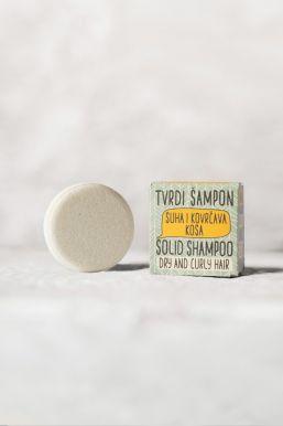 Sapunoteka Solid Shampoo For Dry and Curly Hair 60g - Tuhý šampón na suché a vlnité vlasy