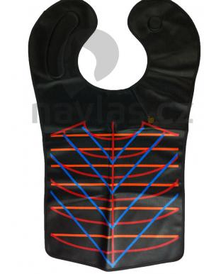 Strihací golier plastový čierny - dlhý
