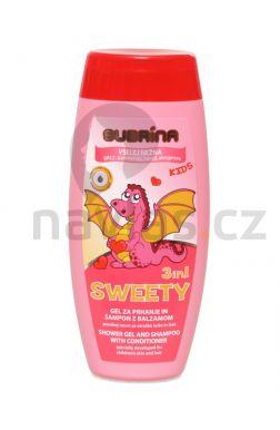 Subrína Sweety 3in1 - Detský sprchový gél a šampón s kondicionérom 250ml