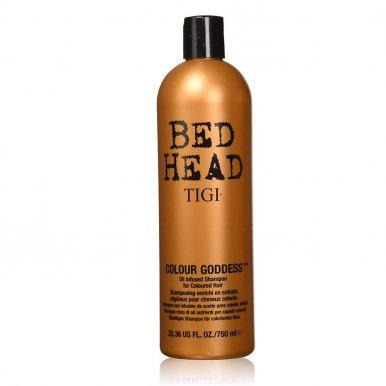 Tigi Bed Head Colour Goddess Shampoo 750ml - Šampón na hnedé a červené vlasy