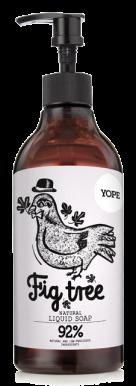 Yope Natural Liquid Soap Fig Tree 500ml - Tekuté hydratačné mydlo