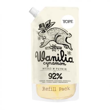 Yope Natural Refill Soap Vanilla & Cinnamon 500ml - Tekuté hydratačné mydlo náplň